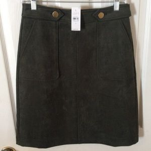 Forest green suede skirt
